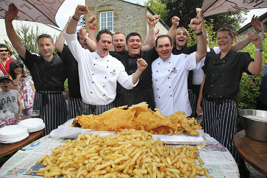 The wensleydale heifer luxury hotel seafood restaurant for Best fish and chips nyc